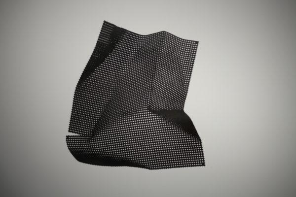 Из серии «Куски металла». 2012-2013. Перфорированная вороненая сталь. 100см х 100см