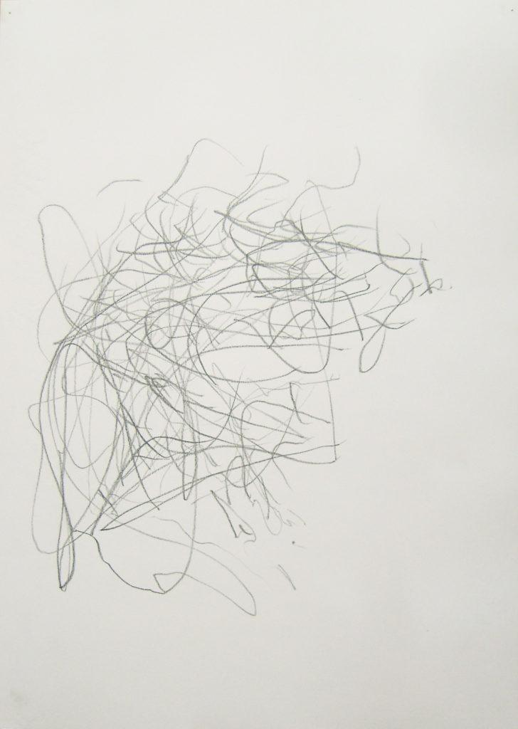 Из серии «Негативное рисование». Графит. бумага. 42х30 см